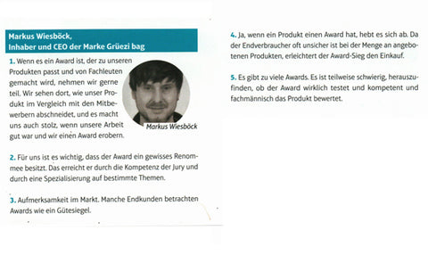 gruezi-bag-Awards Meinung Markus Wiesboeck-Magazi-sport mode-August 2018