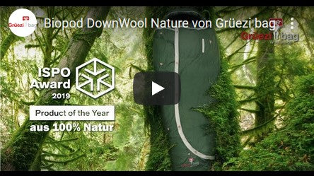 Grüezi bag Biopod DownWool Nature Sleeping Bag Youtube Video Thumbnail