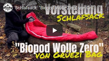 Grüezi bag Biopod Wolle Zero Sleeping Bag Test of Sicky Popp Youtube Video Thumbnail