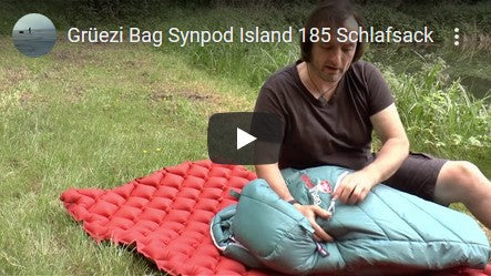 Grüezi bag Synpod Island Schlafsack Test von Jackknife68 Youtube Video Thumbnail