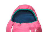 Grüezi bag Kinderschlafsack Biopod Wolle Kids World Traveller Claret Red - Kapuze