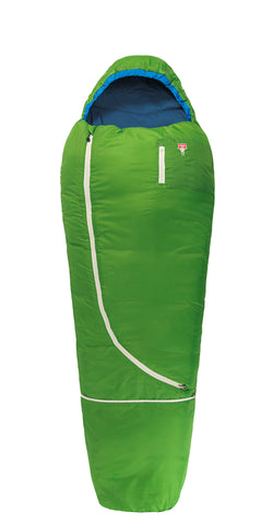 Grüezi bag Kinderschlafsack Biopod Wolle Kids World Traveller Holly Green