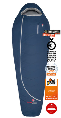 Grüezi bag Schlafsack Biopod Wolle Zero Night Blue