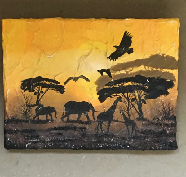 "Collection ""Africa""-Painting ""Savanna"""