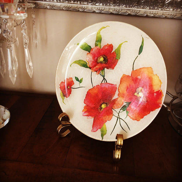 "Decorative Plate"" Poppies"""
