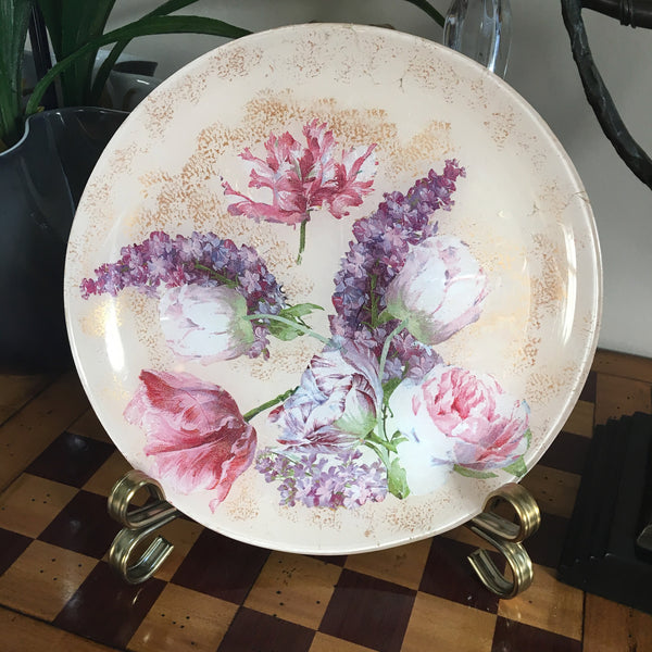 "Decorative plate "" Spring flowers"""