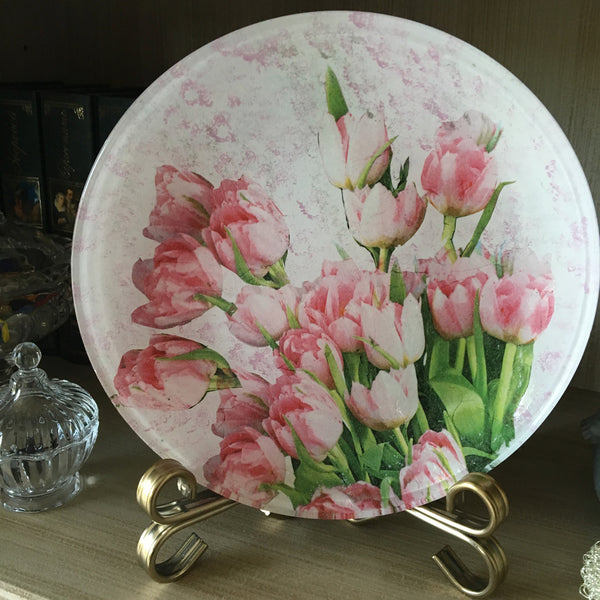 "Decorative plate  ""Bouquet of tulips"""