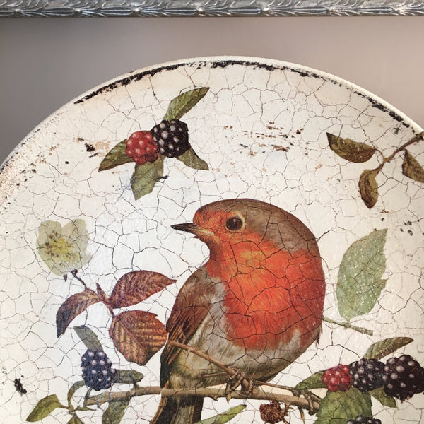 "Decorative plate ""Rouge-Gorge"" (Robin)"