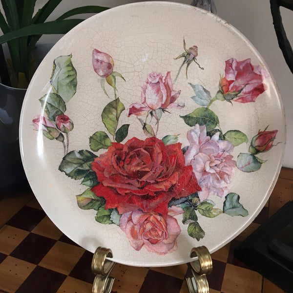 "Decorative plate "" Roses"""