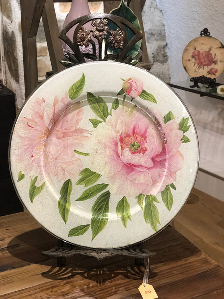 "Decorative Dish ""Peonies"""