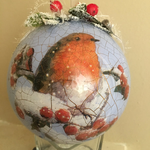 "Christmas ball ""Robin"""