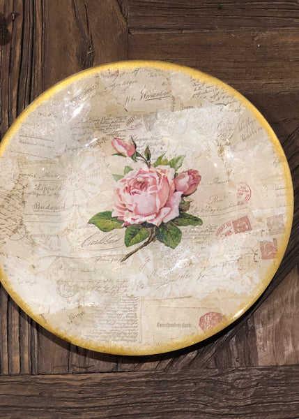 "Kit of the plates ""The letter with a rose"""