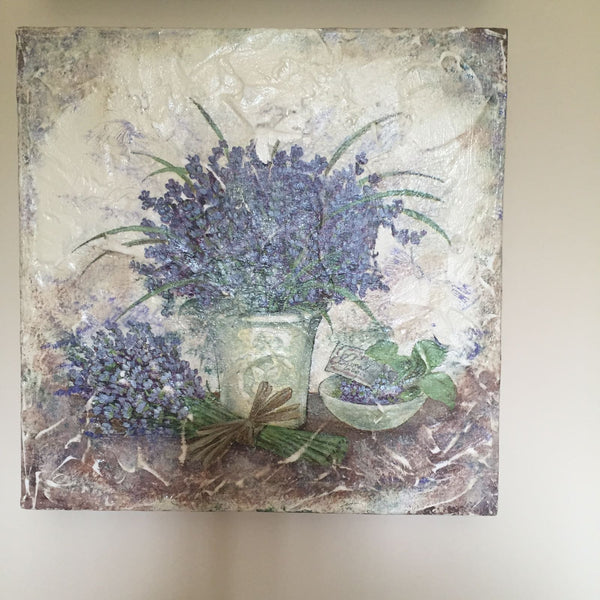 "Provence collection- Painting ""Bouquet with Lavender"""