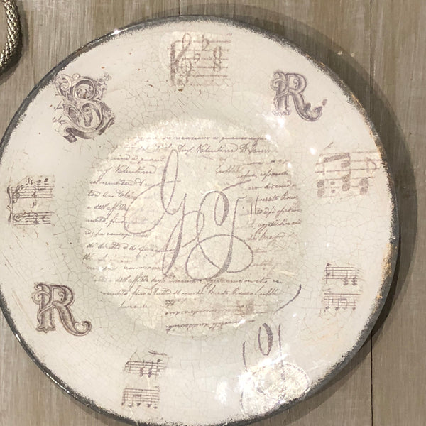Plates « Caligraphy »