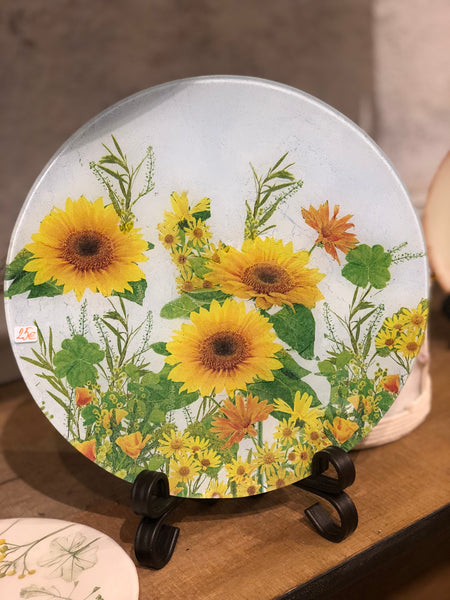 "Decorative plate ""Wildflowers-Sunflowers"""