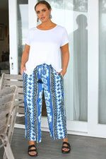 Foster Wide Leg Pant in Ibiza by Adrift