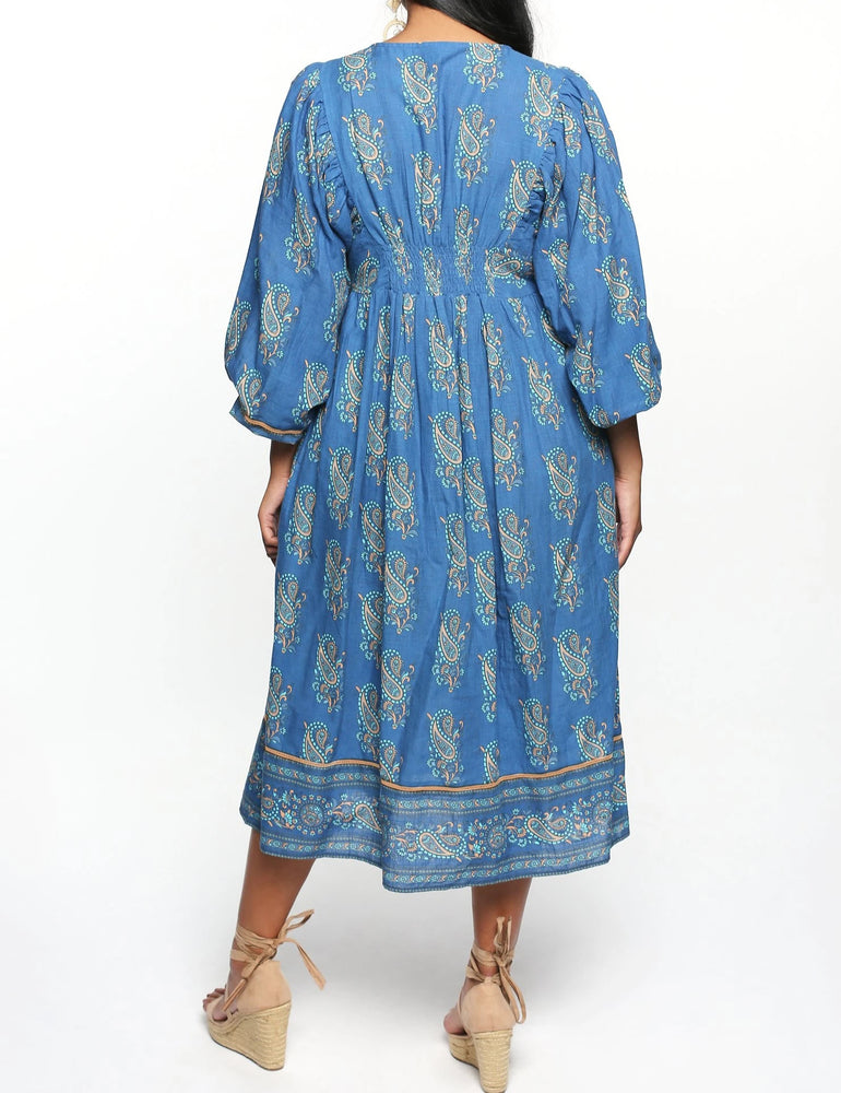 Annabella Maxi Dress in Blue, Tuscan Sea by Adrift