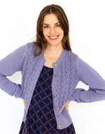 Ava LS Cardigan in Wisteria *organic cotton by Lazybones
