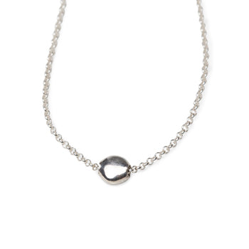 Silver Beach Pebble Necklace by Lisa Carney Design