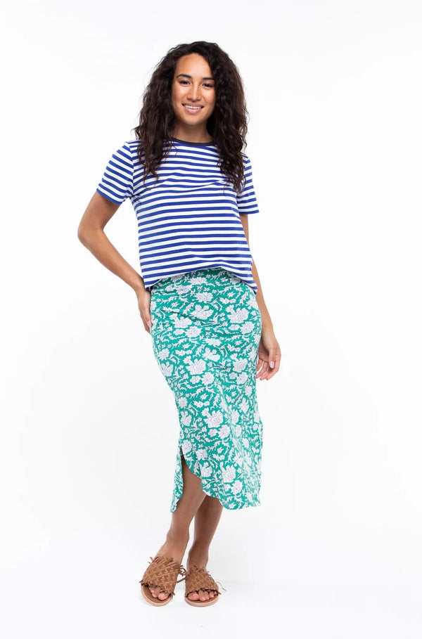 Bibi Skirt in Emerald Lily by Boom Shankar