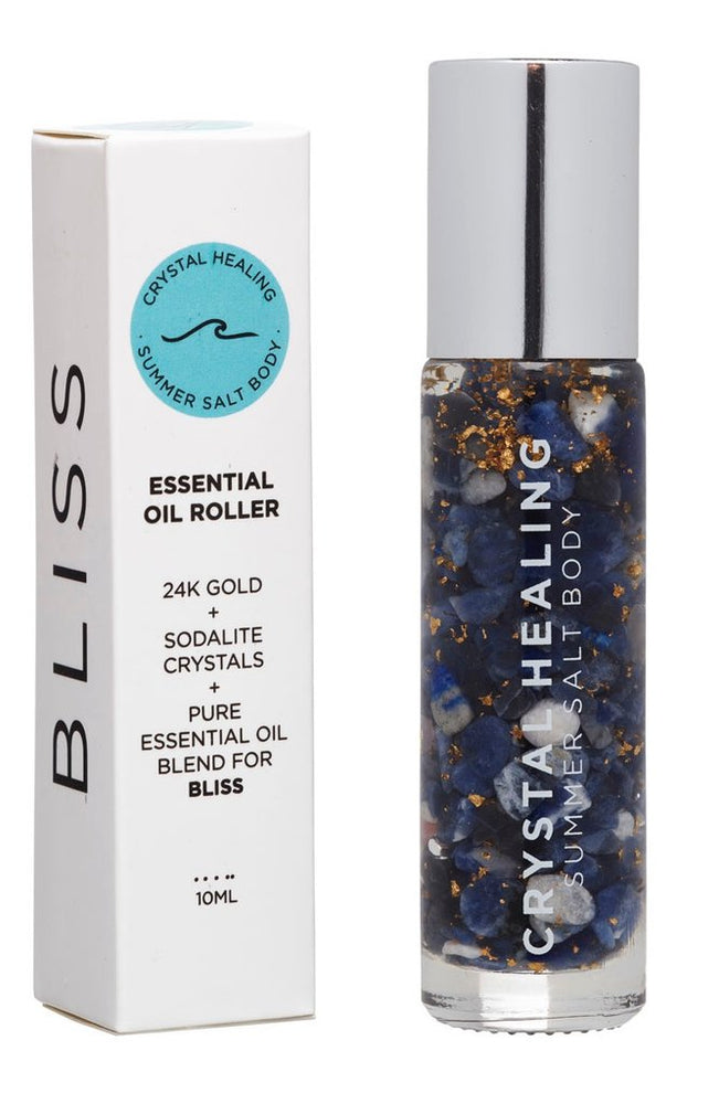 Crystal Healing ''Bliss'' Essential Oil Roller - 10ml by Summer Salt Body