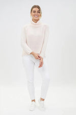 Classic Turtleneck Jumper Blush by Olive et Julie