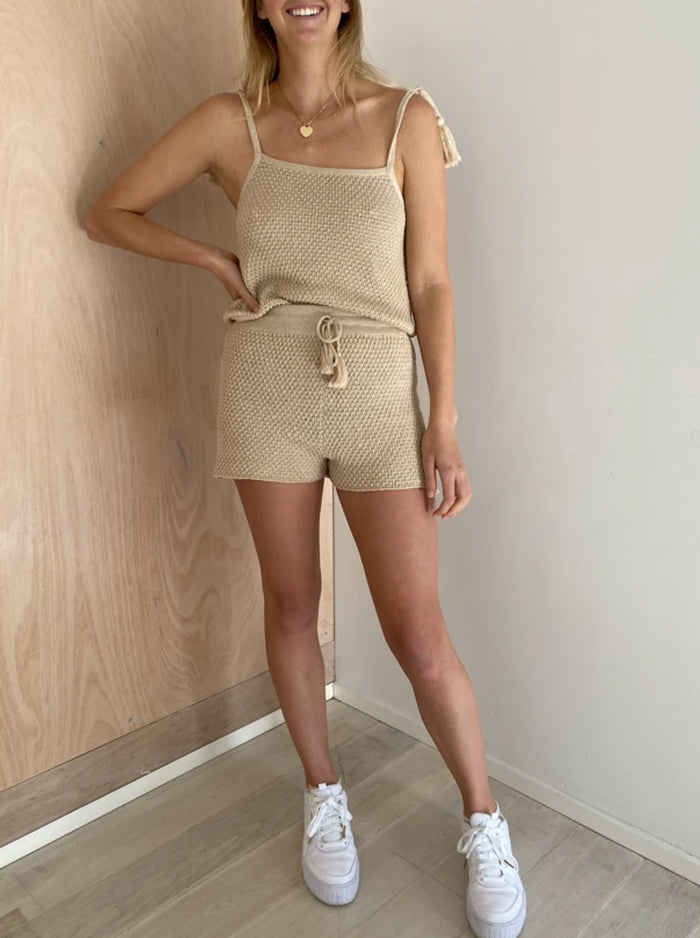 Golden Hour Daydream Top &/or Shorts in Almond by Indian Summer