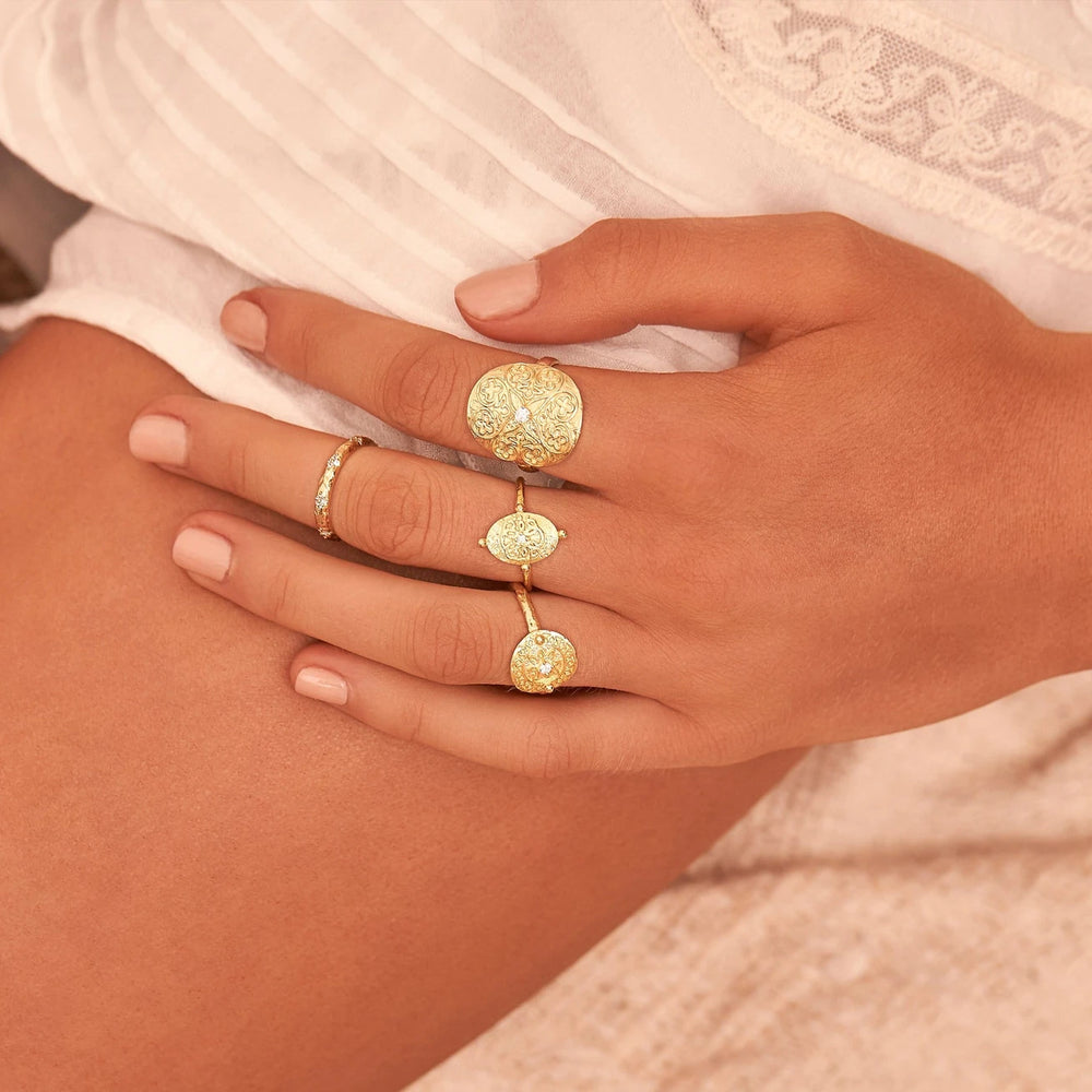Gold Believe in Luck Ring by By Charlotte