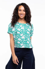 Heera T-shirt in Emerald Lily by Boom Shankar