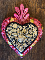 Handmade in Mexico - Handpainted Large Red Milagros Heart