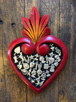 Handmade in Mexica - Red Milagros Heart - large