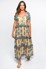 Ismay Maxi dress in Tuscan Sun by Adrift - LAST ONE!