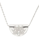 Silver Lotus Short Necklace by By Charlotte