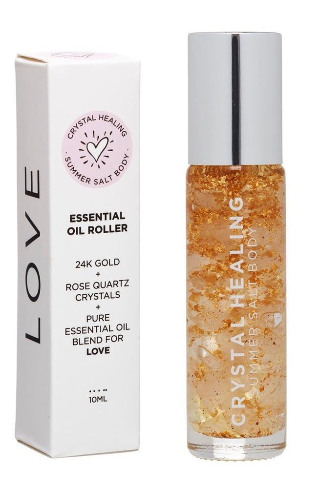 "Crystal Healing ""Love"" Essential Oil Roller 10ml by Summer Salt Body"