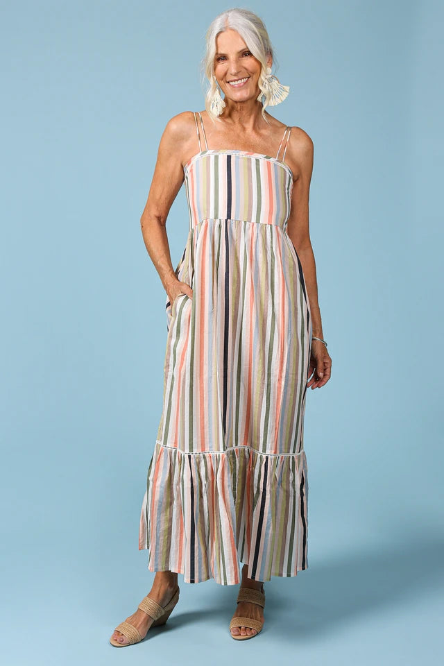 Maxwell Sundress in Safari Stripe by Adrift