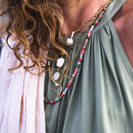 Recycled Glass Summer Pop Necklace by Lisa Carney