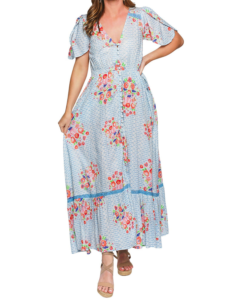 Savelle Maxi Dress in High Tea, by Adrift - LAST ONE!