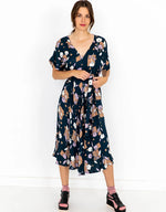 Sofia Dress in Floret *sustainable viscose by Lazybones