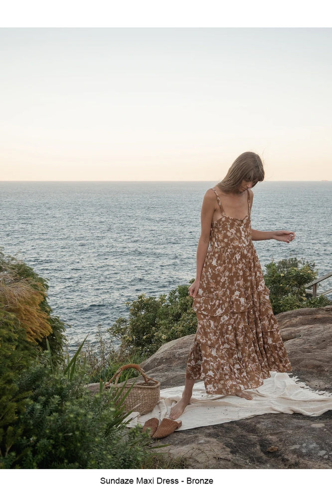 Sundaze Maxi Dress in Bronze or Blush by Indian Summer (LAST ONE)