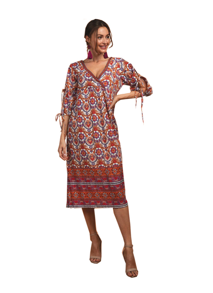 Tali Dress Gypsy Oasis in Orange by Naudic