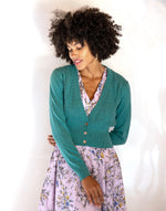 Verity Cardigan in River Blue *organic cotton by Lazybones