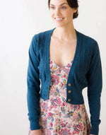 Verity Cardigan in Shadow Blue *organic cotton by Lazybones
