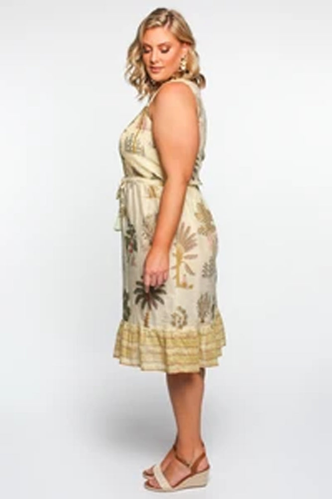 Viola Dress in Safari by Adrift - LAST ONE!