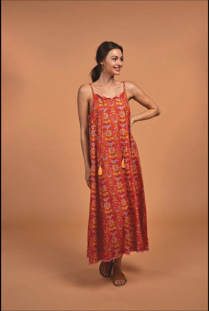 Astrid Maxi in Gypsy Oasis Orange by Naudic