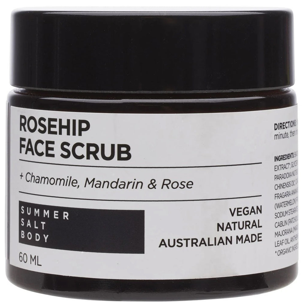 Rosehip Face Scrub 60mL by Summer Salt Body