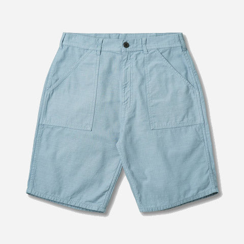 Fat Short Grey Blue Sateen