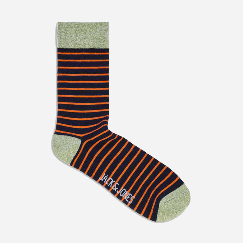 Twisted Sock Navy Orange