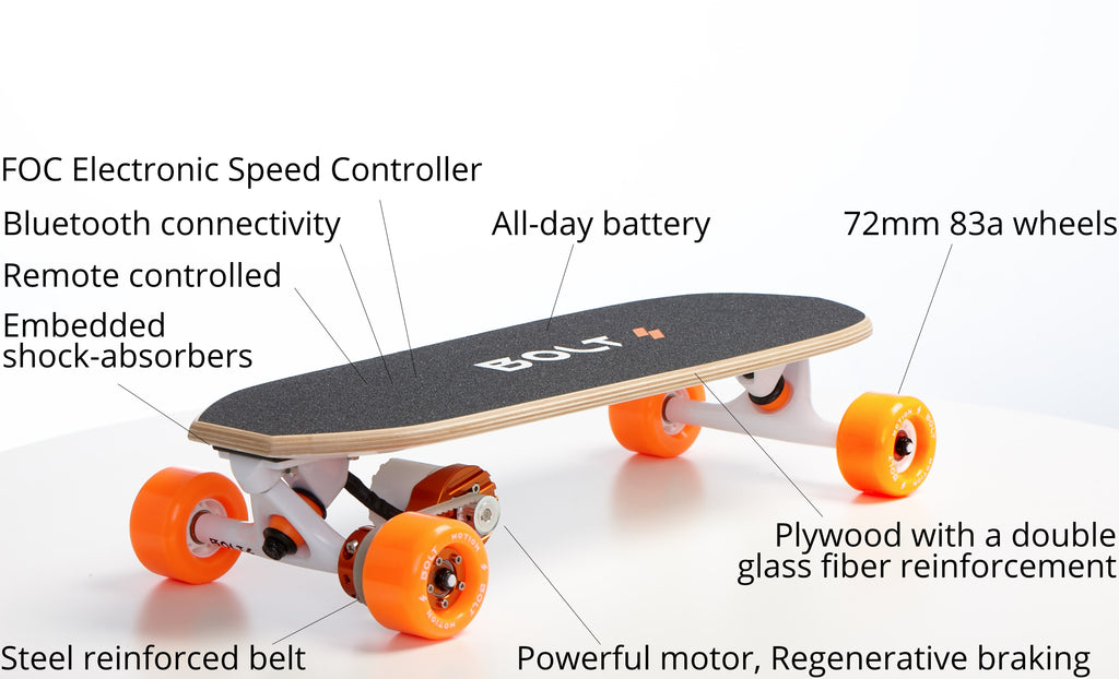 Bolt best electric skateboard technical spec