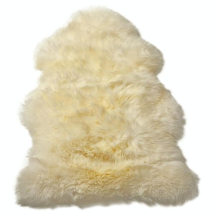Sheepskin Throw Rug Natural White