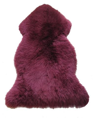 Sheepskin Throw Rug Berry